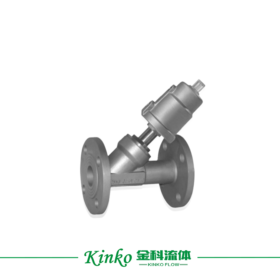 Stainless Steel Flanged  Angle Seat Valve