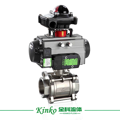 Pneumatic 3PC Thread Ball Valve