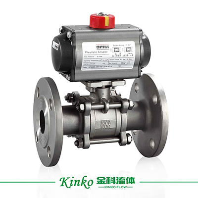 Pneumatic 3PC Flanged Ball Valve