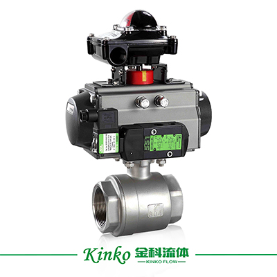 Pneumatic 1PC Thread Ball Valve