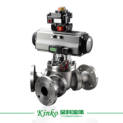 Pneumatic Y-typed Three Way Ball Valve