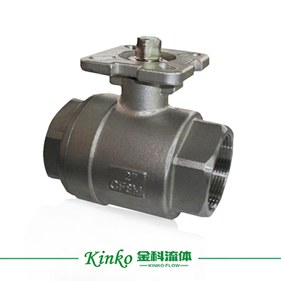 2PC High Platform Thread Ball Valve