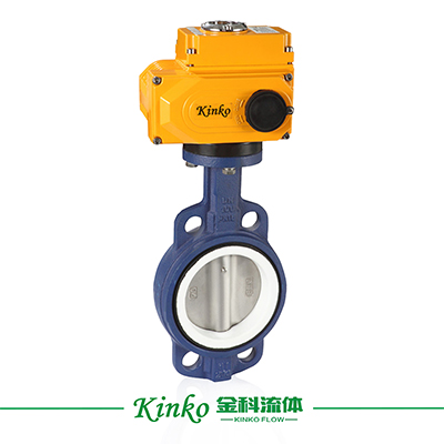 Electric PTFEStainless Steel Butterfly Valve