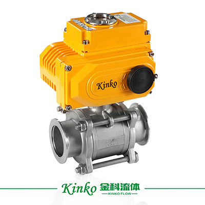 Electric 3PC Quick-join Ball Valve