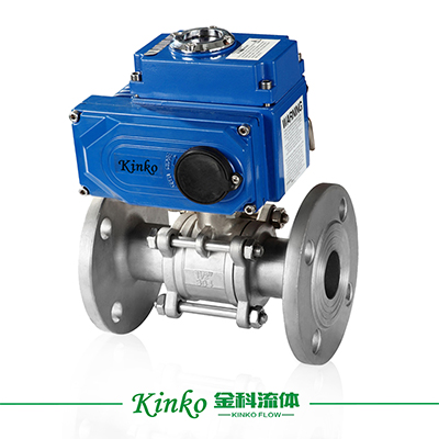 Electric 3PC Flanged Ball Valve