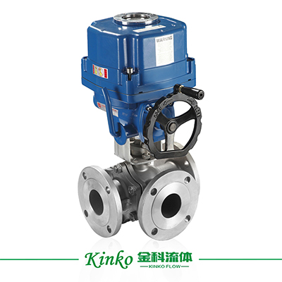 HQ Electric Three wayFlanged Ball Valve